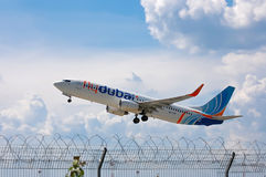 Flydubai Boeing 737 Στοκ εικόνα με δικαίωμα ελεύθερης χρήσης