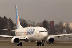 Flydubai Boeing 737 Next Gen aircraft running on the runway Stock Photos