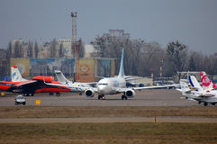 Flydubai Boeing 737 (7000th Boeing 737) Photos stock