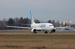 Flydubai Boeing 737 (7000th Boeing 737) Fotografia Stock Libera da Diritti