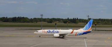 Flydubai plane is ready to fly. Royalty Free Stock Photo