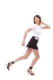 flyende kvinna Arkivfoto