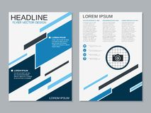 Modern professional business flyer vector template vector illustration