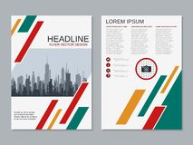 Modern professional business flyer vector template royalty free illustration