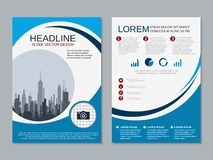 Modern professional business flyer vector template stock illustration