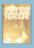 Flyer Abstract  Low poly gold design Royalty Free Stock Photo