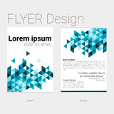 Flyer with abstract polygon background Royalty Free Stock Photography