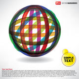 Flyer abstract sphere of rubber thread Stock Photo