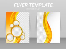 Flyer back and front design template royalty free illustration