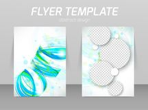 Flyer back and front design template Royalty Free Stock Photos