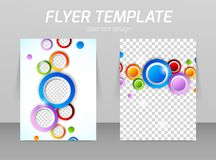 Flyer back and front design template Royalty Free Stock Photography