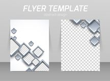 Flyer back and front design template stock illustration