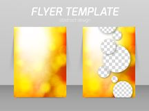 Flyer back and front design template vector illustration
