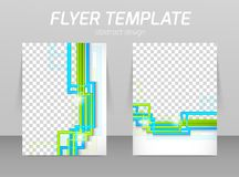 Flyer back and front design template Stock Photos