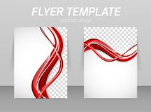Flyer back and front design template Royalty Free Stock Images
