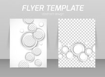Flyer back and front design template. With white circles Stock Photo