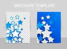 Flyer back and front template design Royalty Free Stock Photo