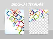 Flyer back and front template design Stock Photos