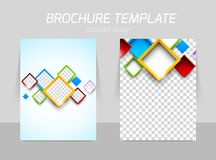 Flyer back and front template design Royalty Free Stock Photography