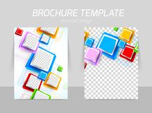 Flyer back and front template design vector illustration
