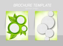 Flyer back and front template design Stock Photography