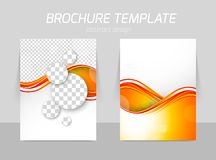 Flyer back and front template design Stock Images