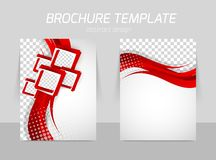 Flyer back and front template design Royalty Free Stock Photos