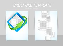Flyer back and front template design Stock Photo