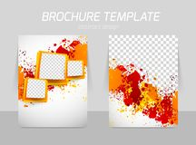 Flyer back and front template design Royalty Free Stock Image
