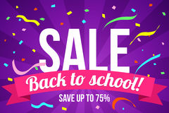 Flyer back to school sale Stock Photos