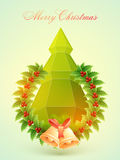 Flyer or Banner for Christmas celebration. Royalty Free Stock Photo