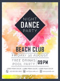 Flyer or banner for Dance Party celebration. Royalty Free Stock Image