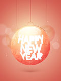Flyer or Banner for Happy New Year celebration. Stock Photos