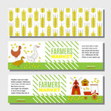 Flyer or banner for information on farm products. Royalty Free Stock Photos