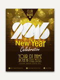 Flyer, Banner or Pamphlet for Happy New Year. Creative shiny Flyer, Banner or Pamphlet design for Happy New Year 2016 celebration Stock Image