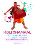 Flyer, Banner or Pamphlet for Holi celebration. Royalty Free Stock Images