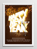 Flyer, Banner or Pamphlet for New Year. Royalty Free Stock Image