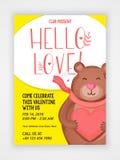 Flyer, Banner or Pamphlet for Valentine's Day. Stock Image