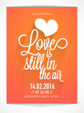 Flyer, banner or Pamphlet for Valentine's Day. Stock Photography