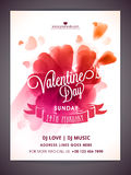 Flyer, banner or Pamphlet for Valentine's Day. Royalty Free Stock Images