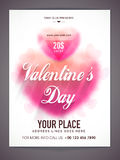 Flyer, banner or Pamphlet for Valentine's Day. Royalty Free Stock Photos