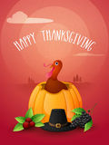 Flyer or Banner for Thanksgiving Day celebration. Royalty Free Stock Photos