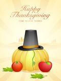 Flyer or Banner for Thanksgiving Day celebration. Royalty Free Stock Photo