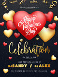 Flyer or Banner for Valentine`s Day Celebration. Royalty Free Stock Images