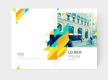 Flyer, booklet, annual report cover template. Minimalistic yellow Brochure. Flyer, booklet, annual report cover template. a4 size. modern Geometric Abstract Stock Photos