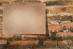 Flyer at Brick Wall Royalty Free Stock Images
