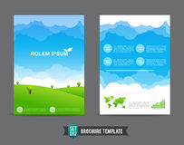 Flyer Brochure background template 0002 Stock Images