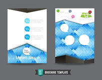 Flyer Brochure background template 0001 Stock Image