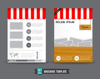 Flyer Brochure background template 0004. Red shop concept brochure design template , Fyer template illustration Vector Illustration