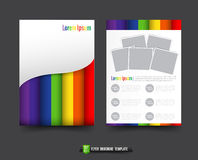 Flyer Brochure background templated 011 Abstract colorful rainbo Royalty Free Stock Photos